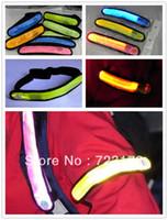 Wholesale LED Flashing Wristband Light up Armband Sports Flash Shining Arm Band Strap for night walking