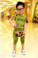 4-6 7-12years Boy  2013 new arrival Summer baby boy's clothing set children fashion sports suit (tops+pants)