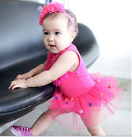 3-6 Months Girl Summer 2013 Summer New kid's clothing baby girl One-Piece Romper hot baby pink lace tutu rompers ,Z-M157