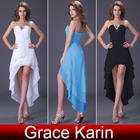 Wholesale Fashion Strapless Hi low Party Dress Chiffon Bandage Long Ball Prom Gown Cocktail Dress CL4099