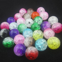 assorted plastic - 16mm Assorted acrylic round crackle beads