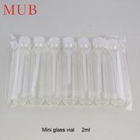 Wholesale Mini ml Glass Jar With Plastic Dropper Small Glass Bottle Refill Perfume Sample Vials Oil Bottle