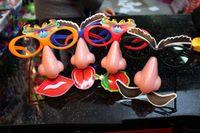 Wholesale big nose mask - props glasses halloween mask big glasses led flashing Halloween mask props big nose