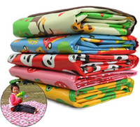 Wholesale Child blanket baby crawling mat beach mat picnic mat children cartoon design mat outdoor camping mat suit for peoples cm