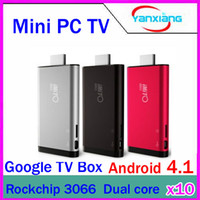 Wholesale DHL Dual Core TV Box Bluetooth Mini PC iMito MX1 Google Android RK3066 GB GB RW GV42