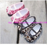 Wholesale Children sneaker leopard print baby shoes Infant Baby Girls Hot Pink Crib Shoes baby toddler shoes Zebra Bow M