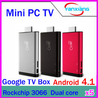 Wholesale DHL New iMito MX1 Dual Core Android TV Box Mini PC RK3066 GB GB A9 Bluetooth RW GV42