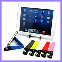 Universal Colorful  flexible stand holder for iphone 4 5 ipad 2 3 4 colorful Universal Smart phone Cellphone Stand holder mounts 500pcs lot