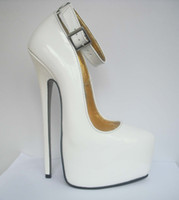 Wholesale Genuine leather white CM high heel wedding shoes