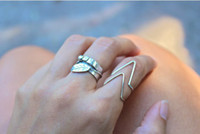 """Celtic Women's Gift 2013 New Fashion Wire Chevron Knuckle Gold Silver Tone Rings """"V"""" Shape Midi Ring Women Jewelry ZY1"""