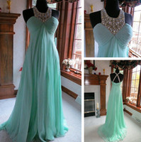 Wholesale - Fashion Evening Dresses Alencon lace Beading Min...