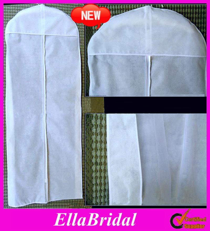 New all white no logo cheap wedding dress gown bag garment for Wedding dress travel case