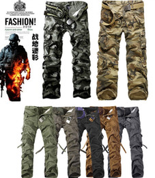Wholesale CHRISTMAS NEW MENS CASUAL MILITARY ARMY CARGO CAMO COMBAT WORK PANTS TROUSERS COLORS SIZE