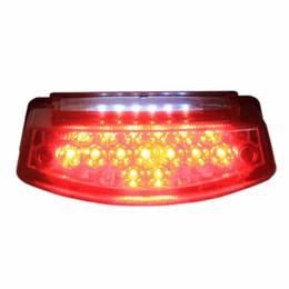Wholesale Red LED Motorcycle License Plate Brake Tail Light For Honda Yamaha KTM ATV