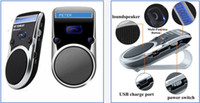 Wholesale Solar Powered Bluetooth Handsfree Car Kit LCD Speaker For Mobile Cellphone