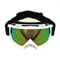Wholesale WHITE Flexible Goggles Tinted UV Motorcycle Motocross Bike Cross Country GOGGLES