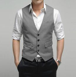 Custom Made Formal Light Grey Men's Waistcoat New Arrival Fashion Groom Vests Casual Slim Fit Vest NO:67