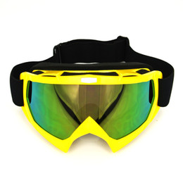 Yellow Motorcycle Motocross Bike Cross Country Flexible Goggles Tinted UV