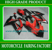 Wholesale Injection Red black plastic fairings kit for SUZUKI K6 GSXR GSXR body part GSX R600 fairing set with gifts