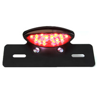 Wholesale Black Motorcycle License Plate Mount Brake Tail Light For ATV DIRT Chopper