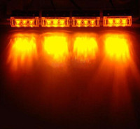 Wholesale 4 LED Amber Modes Emergency Vehicle Boat Truck Car Strobe Lights