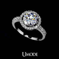 Wholesale Heats amp Arrows Ideal cut Swiss Cubic Zirconia Diamond Wedding Ring Umode UR0012