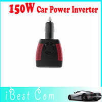 Cheap HOT sales Free Shipping 150W Car Power Inverter Charger Adapter 12V DC To 110 220V AC USB 5V wholesale