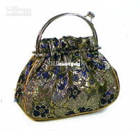 purse clasp - Vintage Evening Bags Handbags Silk Metal Clasp Hand Bag Purses mix color Free