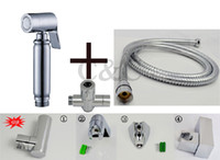 Wholesale With Brass T Adapter Hose And Holder Muslim Handheld Shattaf Bidet Toilet Spray Shower A2007ST