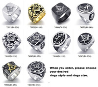 Unisex african jewelery - Mix order Men s fashion jewelry Stainless steel rings masonic ring men jewelery Personality Freemasonry Ring jewellery freeshipping