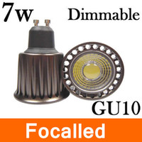 Cheap hot sale gu10 dimmable cob led spotlight bulb lamp 7w cob led warm pure white 3500k 110v 220v