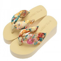 Wholesale 2013 Summer Women s and Girls Flip Flops Lady s slippers platform wedges bohemian beach Shoes