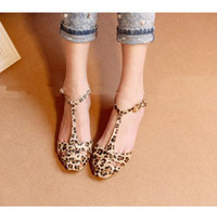 Wholesale Leopard Print Flat Heel Women s Sandals Summer Women Summer Shoes Fashion Sandals Sweet
