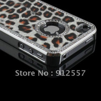 Cheap Support wholesale&retail Luxury Leopard Hard Back Case Cover For Apple iPhone 4S 4 4G