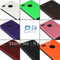 Plastic For Apple iPhone Guangdong China (Mainland) Support wholesale&retail 1PC 2in1 Fashion Ice Cream Hard Back Case Cover for Apple iPhone 4 4G 4S + free shipping
