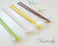 Wholesale Korean butterfly chopsticks Knife and fork Rack random color Hotel Table Accessories