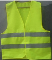 Wholesale Green reflective safety vest coat Sanitation vest Traffic safety warning clothing vest Fast shipping