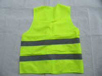Wholesale Green reflective safety vest coat Sanitation vest Traffic safety warning clothing vest