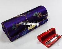 lipstick case - Vintage Lipstick Case with Mirror Silk Metal clasp Eco Friendly Lip Balm Tubes