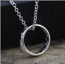Wholesale Sample order Lord of the rings Pendant Necklace Silver plated Antique edition jewelry