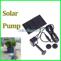 Wholesale Solar Panel Powered Water Pump Solar Mini Fountain Fish Pond Pump Garden Fountain