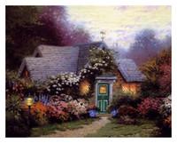 Wholesale USA HD Print Hot selling Thomas KinkadeOil Painting Abstract Wall Deco Art on canvas Weathervane Hutch x24