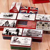 Wholesale vintage metal commemorative storage box storage box gift tin Sights
