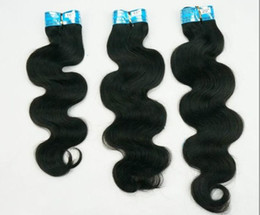 10% Off Human Hair Weave 100% European virgin remy human weft hair extension mix length 12-28inch #1B body wave 100g bundles DHL free
