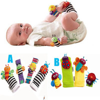 Wholesale baby toys Lamaze Garden Bug Wrist Rattle lamaze wrist rattle foot finder