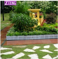 Wholesale 50 CM White Fence Waterproof Environmentally Friendly Plastic Fencing for Gardening Decoration