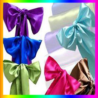 Wholesale pieces Brand New quot x108 quot Satin Chair Cover Sash Wedding Party Supply Decoration