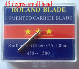 Wholesale High Quality Cutter Blade blades for Roland liyu GCC cutting plotter vinyl cutter degree small head