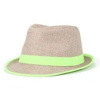 Wholesale Cheap Caps Fedora Style Man Women Colors pc New Arrvial C4