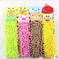 Bathroom bathroom towel designs - 10pcs Microfiber cartoon Hanging towel designs Cute animal cleaning towel children s gift cm drop shipping